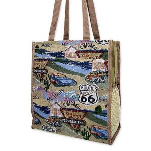 ルート66のバッグ!ショッピングバッグ|amezatsu-aputetsu