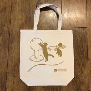 オリジナルトートバッグ(コンパネ猫)/生成り amf-ec
