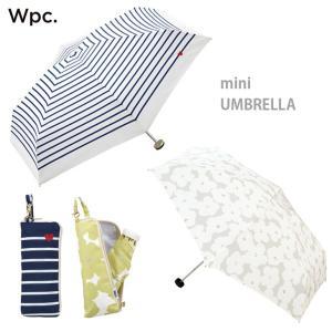 コンパクト折りたたみ傘 w.p.cファッション 雨傘 日傘 wpc 傘 晴雨兼用 UVカット デザイ...