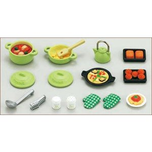 シルバニアファミリー 家具 料理セット[エポック]《発売済・在庫品》|amiami