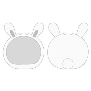 おまんじゅうにぎにぎマスコット きぐるみケース うさぎ ホワイト(再販)[エンスカイ]《発売済・在庫品》|amiami