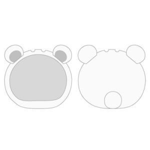 おまんじゅうにぎにぎマスコット きぐるみケース くま ホワイト(再販)[エンスカイ]《発売済・在庫品》|amiami