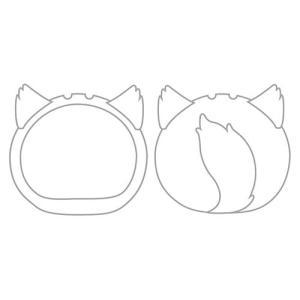 おまんじゅうにぎにぎマスコット きぐるみケース いぬ ホワイト ふつうサイズ用[エンスカイ]《発売済・在庫品》|amiami