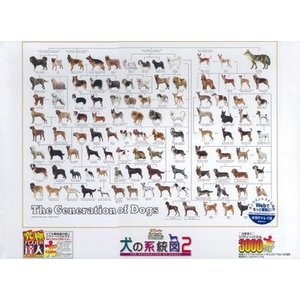 ジグソーパズル 犬の統計図2 3000スモールピース(21-106)[エポック]《取り寄せ※暫定》|amiami
