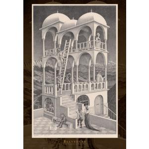 ジグソーパズル エッシャー 物見の塔(1958) 1053スーパースモールピース (31-301)[エポック]《発売済・在庫品》|amiami