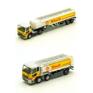 ザトラックトレーラーコレクション シェル石油ローリー2台セット