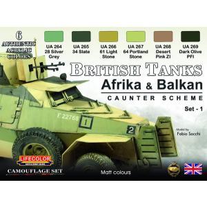 WWII イギリス陸軍車両カモフラージュセット 北アフリカ戦線及びバルカン半島戦域[Lifecolor]《12月予約》|amiami