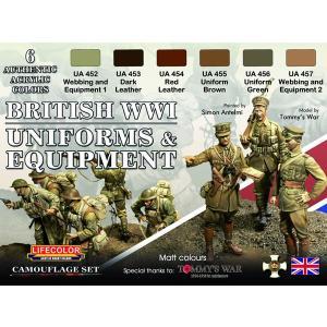 WWI イギリス歩兵用ユニフォームカラーセット[Lifecolor]《12月予約》|amiami