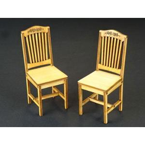 ウッデンフォルムシリーズ 1/12 レトロな椅子セットB 2 脚入り [コバアニ模型工房]の商品画像|ナビ