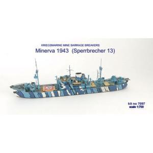 1/700 独海軍ミネルヴァ機雷掃海艦13号1943 レジンキット(再販)[ニコモデル]《01月予約》 amiami