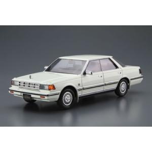 ザ・モデルカー No.58 1/24 ニッサン Y30 セドリック/グロリア4HT V30EブロアムVIP '83 プラモデル[アオシマ]《10月予約》|amiami