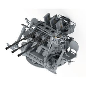 1/35 日本海軍 九六式25mm三連装機銃 プラモデル[ピットロード]《発売済・在庫品》