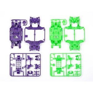 ミニ四駆特別企画 MS カラーシャーシセット (パープル・グリーン)[タミヤ]《発売済・在庫品》