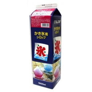 【夏商材】ジェフダ かき氷 イチゴ 1800ml|amicashop