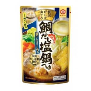 【秋冬商材】キッコーマン 贅沢だしがおいしい鯛だし塩鍋つゆ 750g|amicashop