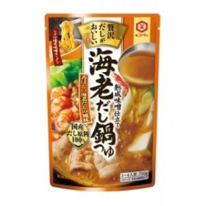 【秋冬商材】キッコーマン 贅沢だしがおいしい海老だし鍋つゆ 750g|amicashop