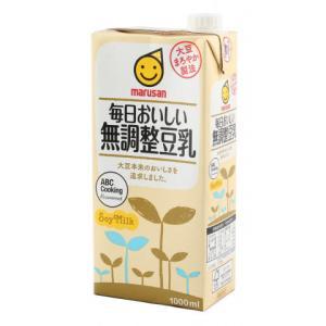 マルサン 毎日おいしい無調整豆乳 1L|amicashop