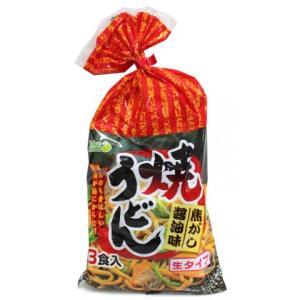 高森興産 焼うどん焦がし醤油味 3食|amicashop