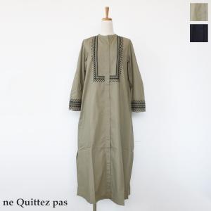 ne Quittez pas (ヌキテパ) ロング ワンピース コットンポプリン 長袖 010492080|amico-di-ineya