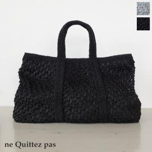 ne Quittez pas (ヌキテパ) メタリック マクラメ トートバッグ [Lサイズ] 012091732|amico-di-ineya