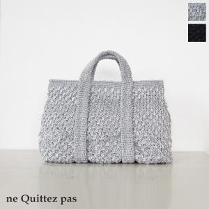 ne Quittez pas (ヌキテパ) メタリック マクラメ トートバッグ [Sサイズ] 012091733|amico-di-ineya