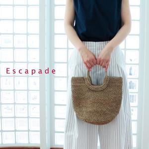 ESCAPADE エスカペード 丸ハンドル 水草 トートバッグ Mサイズ DIANA-M|amico-di-ineya