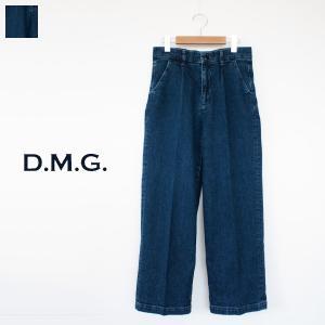 D.M.G / DOMINGO ストレッチ デニム タック バギー パンツ 13-903C|amico-di-ineya