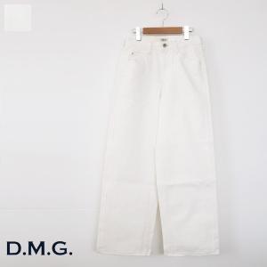 D.M.G セミワイド パンツ ホワイト コットン ドミンゴ 14-020B amico-di-ineya