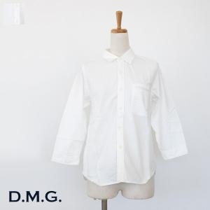 D.M.G (ドミンゴ) シャツ 7分袖 コットン 16-323E|amico-di-ineya