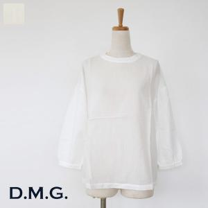 D.M.G (ドミンゴ) ブラウス パフスリーブ コットンリネン 16-503X|amico-di-ineya
