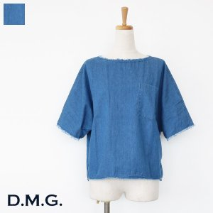 D.M.G プルオーバーシャツ カットオフ 4.5oz デニム ドミンゴ 16-509E|amico-di-ineya