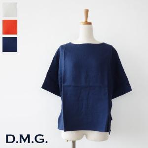 D.M.G (ドミンゴ) プルオーバーシャツ リネン キャンバス ボートネック 16-510L|amico-di-ineya