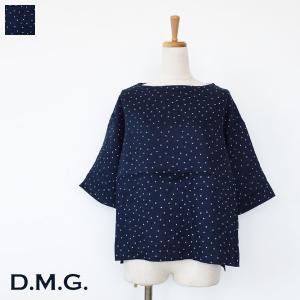 D.M.G プルオーバーシャツ リネン ドット ドミンゴ 16-518L|amico-di-ineya