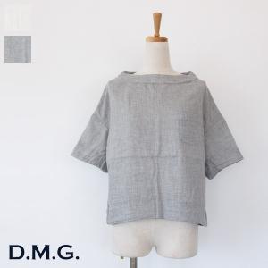 [SALE] D.M.G プルオーバー ダブルガーゼ コットン ボートネック 胸ポケット ドミンゴ 16-520X 20%OFF 返品不可|amico-di-ineya