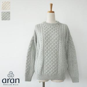 aran WOOLLEN MILLS ニット プルオーバー セーター アラン編み アイリッシュウール|amico-di-ineya