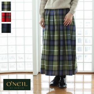 O'neil of Dublin (オニールオブダブリン) ロング ウール ソフトプリーツ スカート 24781|amico-di-ineya