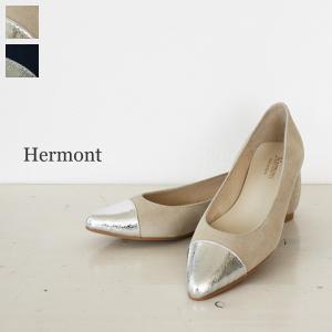 HERMONT(エルモント)ポインテッドトゥフラットヒールバイカラーパンプス*3089A|amico-di-ineya