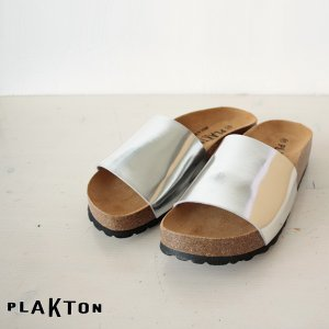 PLAKTON プラクトン メタリック ワンストラップ サンダル 345229|amico-di-ineya