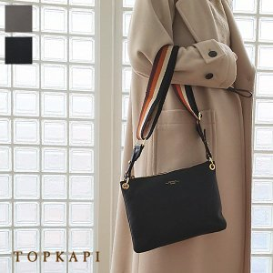 TOPKAPI ショルダーバッグ 2WAY レザー ストライプベルト トプカピ 501-06-10006|amico-di-ineya