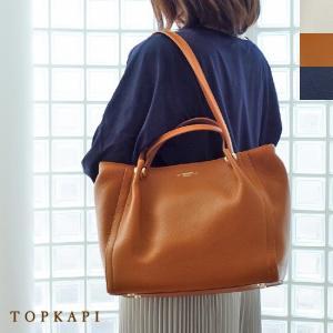 TOPKAPI (トプカピ) ダブルハンドル シュリンクレザー トートバッグ|amico-di-ineya
