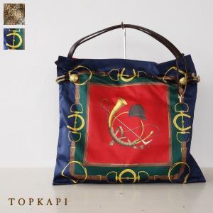 TOPKAPI A4 トートバッグ スカーフ パネル柄 マイルドサテン トプカピ 503-06-11006|amico-di-ineya