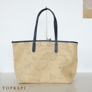 TOPKAPI (トプカピ) PVC コーティング トートバッグ 海図柄|amico-di-ineya