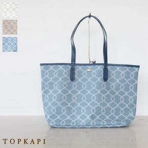 TOPKAPI トプカピ ロープ柄 PVCコーティング トート バッグ 日本製 503-06-81023|amico-di-ineya