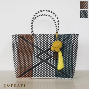 TOPKAPI (トプカピ) エスニック ラフィア ポンポン メルカドバッグ [Lサイズ] 506-06-20013|amico-di-ineya