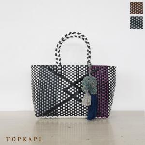 TOPKAPI (トプカピ) エスニック ラフィア ポンポン メルカドバッグ [Sサイズ] 506-06-20014|amico-di-ineya