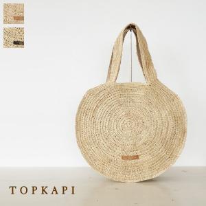 TOPKAPI トプカピ ラフィア タッセル付 サークル かごバッグ 丸形 506-06-80002|amico-di-ineya