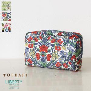 [メール便対応] TOPKAPI トプカピ リバティプリント スクエア型 ポーチ 531-06-61013|amico-di-ineya