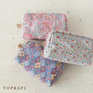 TOPKAPI (トプカピ) リバティプリント スクエア ポーチ|amico-di-ineya