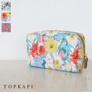 TOPKAPI トプカピ リバティプリント スクエア ポーチ 531-12-81013|amico-di-ineya