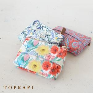 TOPKAPI トプカピ リバティプリント ティッシュケース ポーチ 531-12-81014|amico-di-ineya